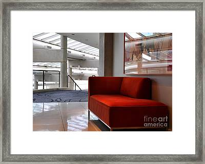 Red Lounger Framed Print by Tanya  Searcy