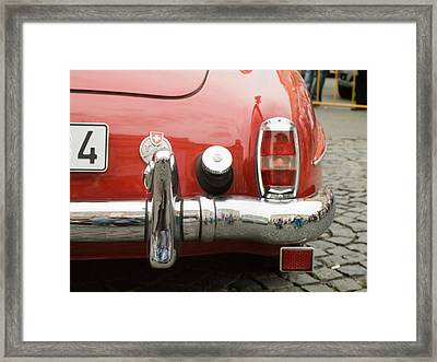 Red Mercedes Framed Print by Odon Czintos