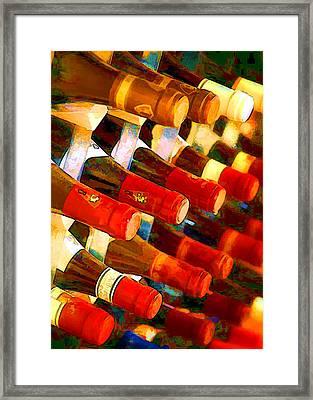 Red Or White Framed Print by Elaine Plesser