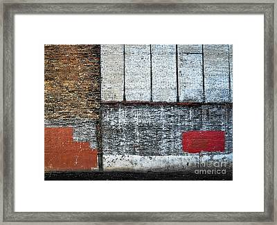 Red Patch Framed Print by Susana Weber