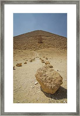 Red Path Of Red Pyramid Framed Print by © Marc Mateos