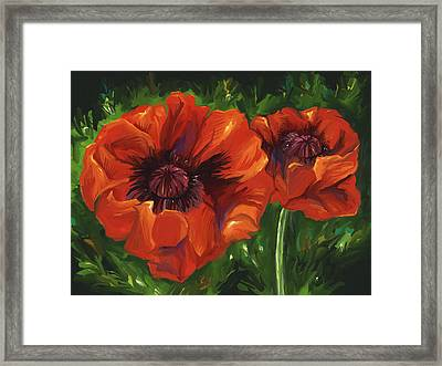 Red Poppies Framed Print by Aaron Rutten