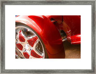 Red Prowler  Framed Print by Toni Hopper