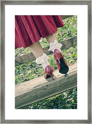 Red Pumps Framed Print by Joana Kruse