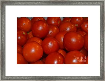 Red Ripe And Round Framed Print by Johanne Peale