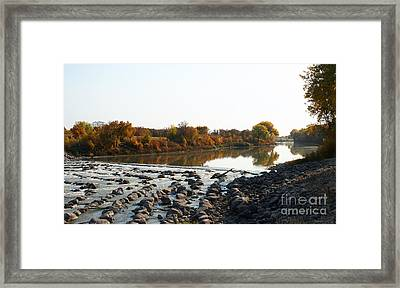 Red River Fall Of The Year Framed Print by Steve Augustin