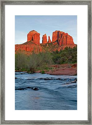 Red Rock Sunset Framed Print by Sandy Sisti