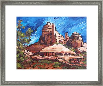 Red Rocks 2 Framed Print by Sandy Tracey