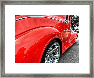 Red Rod 001 Framed Print by Lance Vaughn