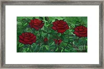 Red Roses - Horizontal Framed Print by Anna Folkartanna Maciejewska-Dyba
