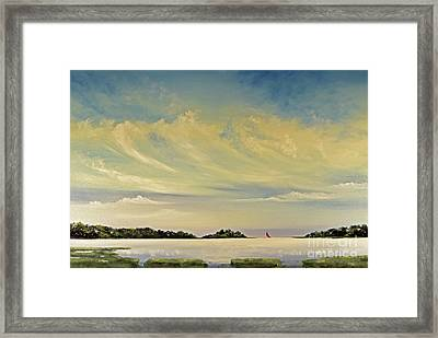Red Sails Framed Print by Diana  Tyson