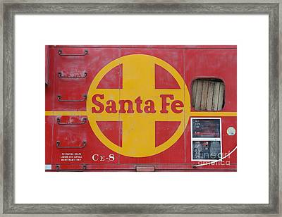 Red Sante Fe Caboose Train . 7d10333 Framed Print by Wingsdomain Art and Photography