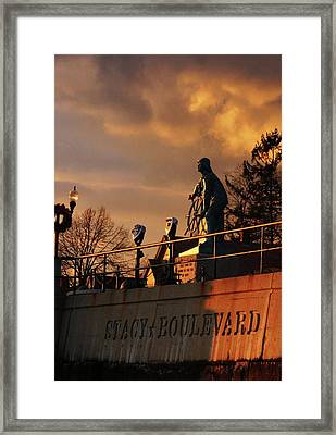 Red Sky At Night - Sailors Delight Framed Print by Matthew Green