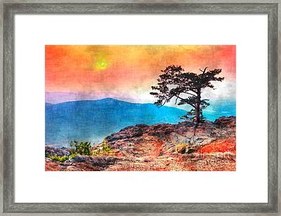 Red Sky Over Ravens Roost IIi Framed Print by Dan Carmichael