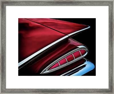 Red Tail Impala Vintage '59 Framed Print by Douglas Pittman