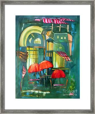 Red Umbrellas Framed Print by Shane Guinn