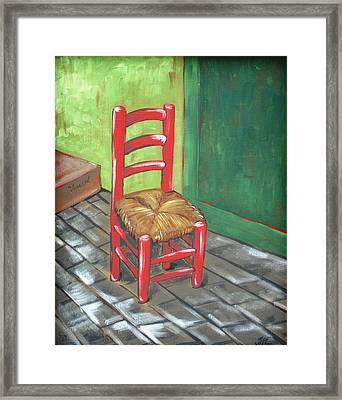Red Vincent Framed Print by JW DeBrock