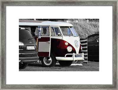 Red Vw Camper Framed Print by Paul Howarth