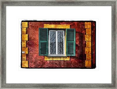 Red Wall Framed Print by Mauro Celotti