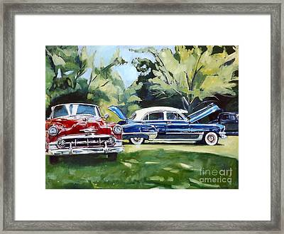 Red White And Blue Framed Print by Deb Putnam