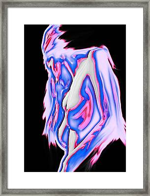 Red White And Blue Framed Print by Tbone Oliver