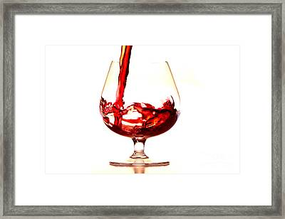 Red Wine Framed Print by Michal Boubin