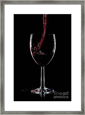 Red Wine Splash Framed Print by Richard Thomas