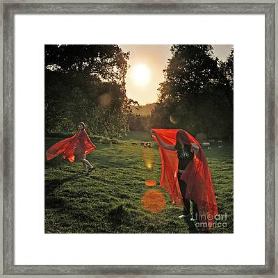 Red Witches Dance Framed Print by Angel  Tarantella