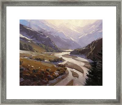 Rees Valley Framed Print by Richard Robinson