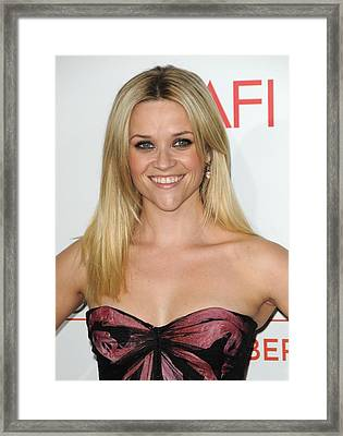Reese Witherspoon At Arrivals For How Framed Print by Everett