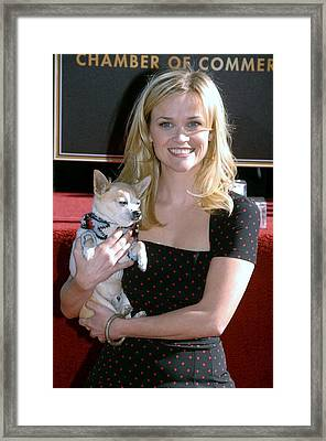 Reese Witherspoon At The Induction Framed Print by Everett