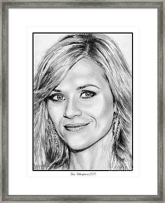 Reese Witherspoon In 2010 Framed Print by J McCombie