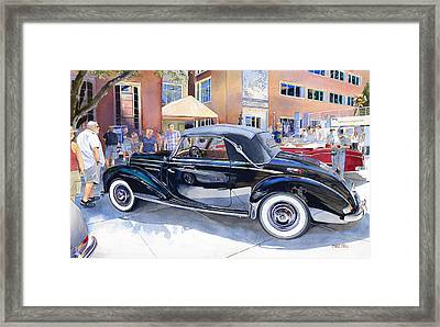 Reflecting On A Mercedes Framed Print by Mike Hill