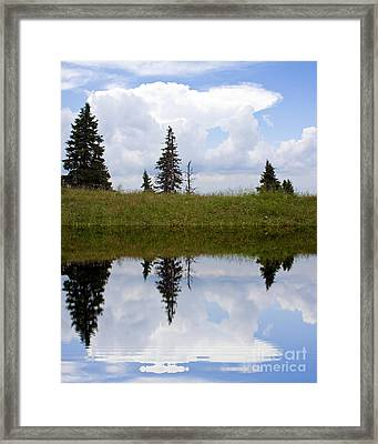 Reflection Of Lake Framed Print by Odon Czintos