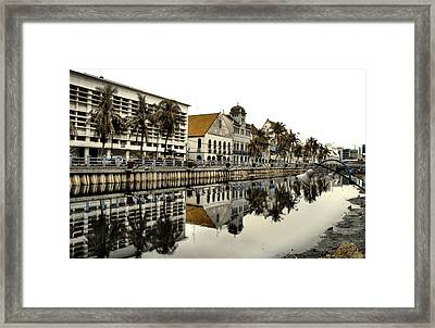 Reflection Of Old Buildings Framed Print by Aris and Ressy