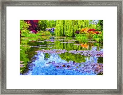 Reflections At Giverny Framed Print by Dominic Piperata