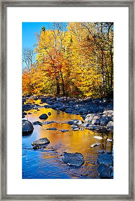 Reflections Down The Creek Framed Print by Adam Pender