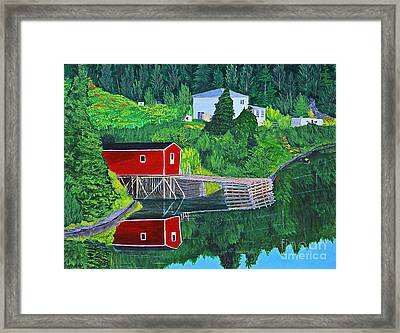 Reflections H D R Framed Print by Barbara Griffin