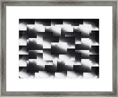 Reflections Of A Rain Shower Framed Print by Tim Allen