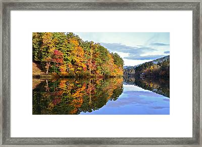 Reflections Of Autumn Framed Print by Susan Leggett
