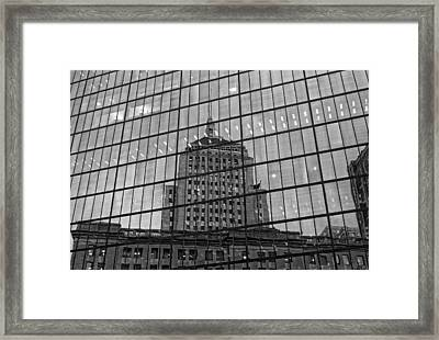 Reflections Of Boston Framed Print by Michael Avory