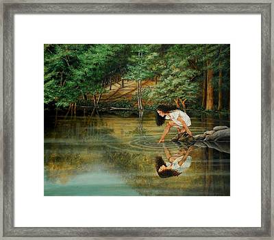 Reflections Of God's Love Framed Print by Ruth Gee