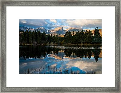 Reflections On A Lake Framed Print by Anne Rodkin