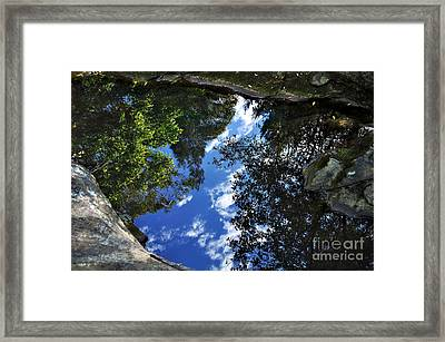 Reflections On A Pond Framed Print by Kaye Menner