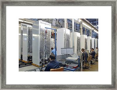 Refrigerator Factory Framed Print by Ria Novosti