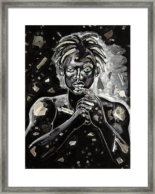 Refugee Evacuee Framed Print by Larry Poncho Brown