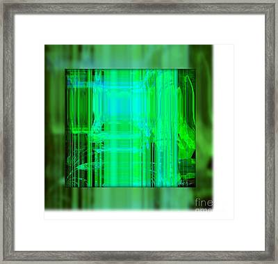 Refuse To Be Discouraged Framed Print by Fania Simon