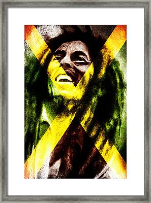 Reggae King Framed Print by Andrea Barbieri