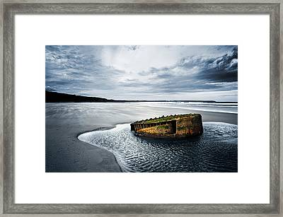 Reighton Sands Coast Framed Print by Svetlana Sewell