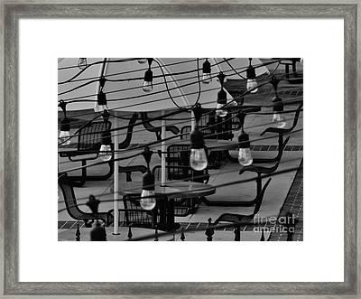 Reitz Union Patio Framed Print by Robert Ulmer